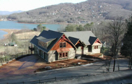 Newly completed home in Hiawassee, GA